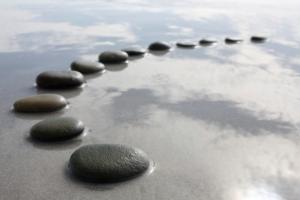zen stones water