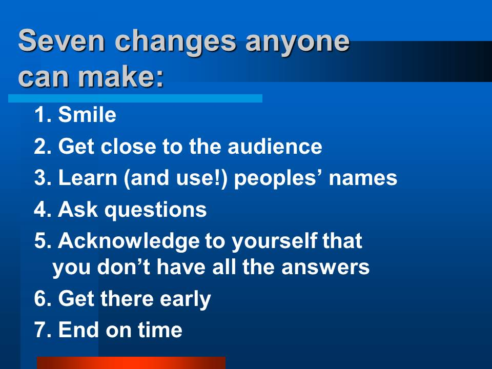 good presentations:
