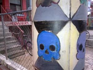 Kensington Market Street Art Skull