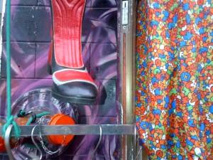 Vintage clothing storefront