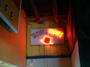Neon sign retro party