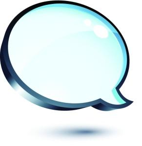 speech bubble social media