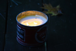 candle tin dark