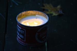 candle tin dark