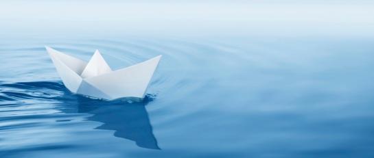 ocean paper boat water cropped