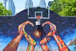 street art basketball