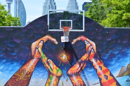 street art basketball